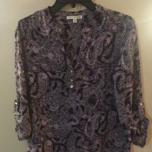 Notations Petite med 3/4 sleeve blouse new w/o tag